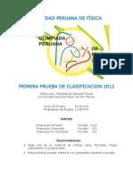 OLIMPIADA PERUANA DE FÍSICA