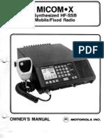 Motorola Micom XF SSB Radio Users Guide