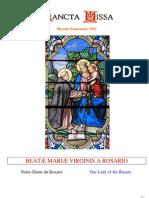 Rosaire latin-français