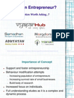 Who is an Entrepreneur - Vyapar Hub Presentation
