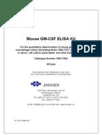 MEC1004 Cytokine ELISA Kit Mouse GM-CSF (96 tests × 1)