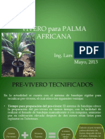Vivero Para Palma Africana SWECA S.A.