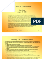 Role of Testers in XP