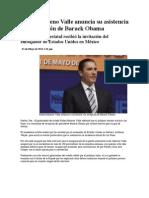 01-05-2013 Puebla noticias - Rafael Moreno Valle anuncia su asistencia a la recepción de Barack Obama