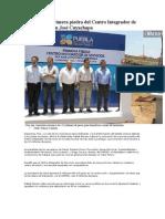 01-05-2013 Diario Cambio - RMV coloca primera piedra del Centro Integrador de Servicios en San José Cuyachapa