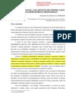 ANDRADE, Fernando Cézar Bezerra de. Violência na escola, uma questão de gênero – o que percebem os  professores e professoras ++