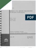 Civil Defense Chronology