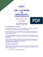 Sam Alvarado for Texas LULAC District Director - District 15