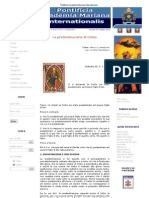 Pontificia Accademia Mariana Internazionale - La Predestinazione Di Cristo