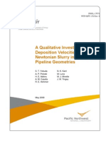A Qualitative Investigation of Deposition Velocities of a Non-Newtonian Slurry in Complex Pipeline Geometries