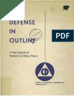 Civil Defense Study Guide (1951)