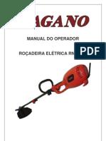 manual de operador de roçadeira eletrica