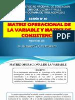Sesion-7-Matriz Operacional de La Variable y Matriz de Consistencia