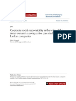 Corporate Social Responsibility in the Wake of the Asian Tsunami