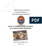 Piedra Laja en la Arquitectura Arequipeña