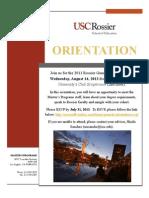 General Orientation Invitation 2013
