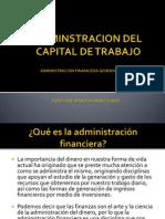 Administracion Del Capital de Trabajo