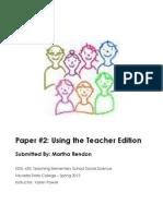 EDEL453 Spring2013 MarthaRENDON TeacherEdition