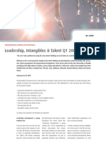 Leadership, Intangibles & Talent Q1 2009 - Four Groups