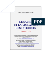 ANTHROPOLOGIE_Raoul & Laura Lévi-Makarius - Le sacré et la violation des interdis II