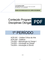 Conteudo Programatico Disciplinas Obrigatorias