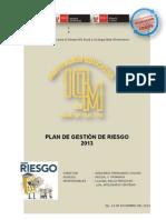 1. PLAN ANUAL GESTIÓN DE RIESGOS 2013