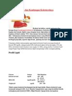 Daftar Makanan Dan Kandungan Kolesterolnya