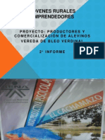 AVANCE DEL PROYECTO DE PRODUCTORES Y COMERCIALICIÓN DE ALEVINOS (1)