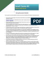 Serving Documents Checklist