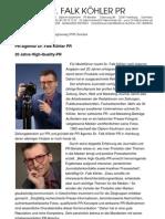 PR-Agentur Dr. Falk Köhler PR - 20 Jahre High-Quality-PR