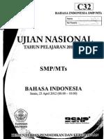 Naskah Soal UN Bahasa Indonesia SMP (Paket C32)