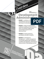 2.History of Development Administration