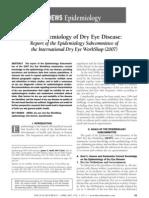 The Epidemiology of Dry Eye Disease