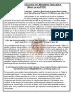 Repaso de La Escuela Del Ministerio Teocratico (Mayo-Junio 2013)