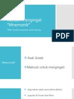Kaedah Mengingat Mnemonics Tia