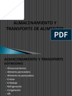 Almacenamiento y Transporte de Alimentos