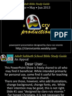 2013 2nd Quarter Lesson 5 Seek the Lord and Live Powerpoint Show