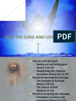 2013 2nd Quarter Lesson 5 Seek the Lord and Live Powerpoint Presentation