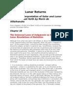 Solar and Lunar Returns - Morin - Astrologia Gallica - Book 23 - Caps. 18 e 19