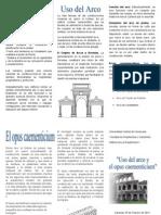 Triptico Arquitectura Romana