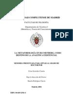 González Cantón, César - La metaforología de Blumenberg como destino de la analítica existencial