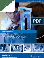 Psychology ~ Postgraduate Course Brochure (2013)