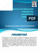 Pirometro,Heliografo, Barografo