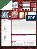 Fireborn Scion Character Sheet