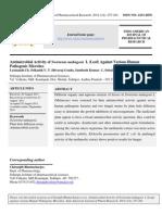 Antimicrobial Activity of Swietenia mahogany Leaf Extract