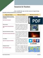 USGS Education Resources for Teachers 2013
