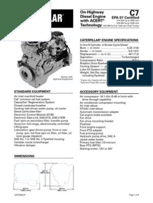 Caterpillar C7 Engine Specs   Diesel Engine   Horsepower