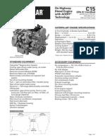 Caterpillar C15 Engine Specs