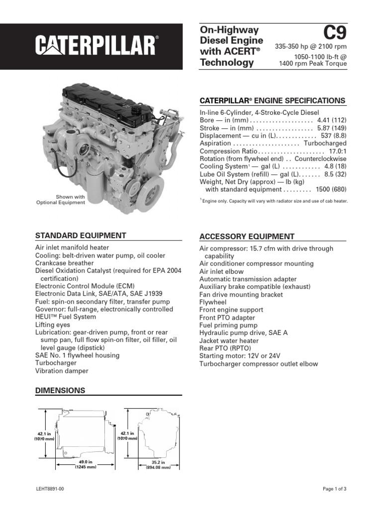 Engine Displacement Diagram Switch Snapcircuitsjrsc100 Caterpillar C9 Specs Transmission Mechanics Diesel Rh Scribd Com Motion Double