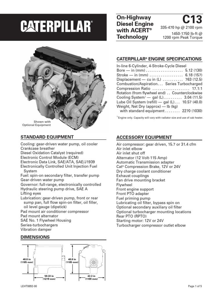Caterpillar C12 Diagram Wire Data Schema Wiring C13 Engine Specs Diesel Horsepower Serpentine Belt